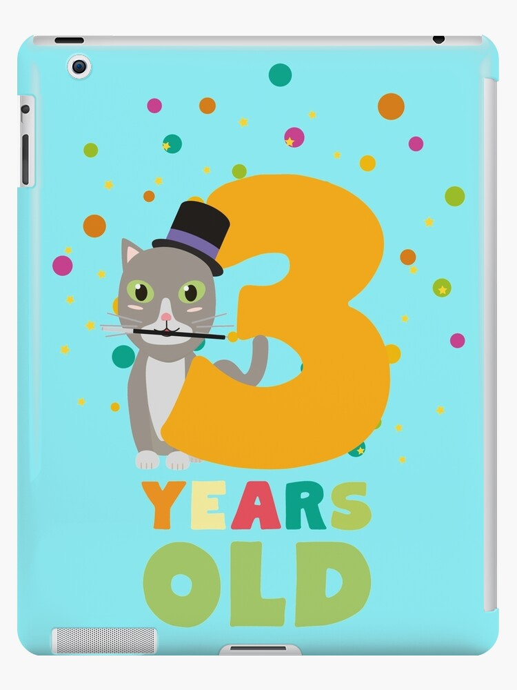 Three Years third Birthday Party Cat Rdd8s by ilovecotton