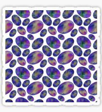 Abstract watercolor space circle pattern Sticker
