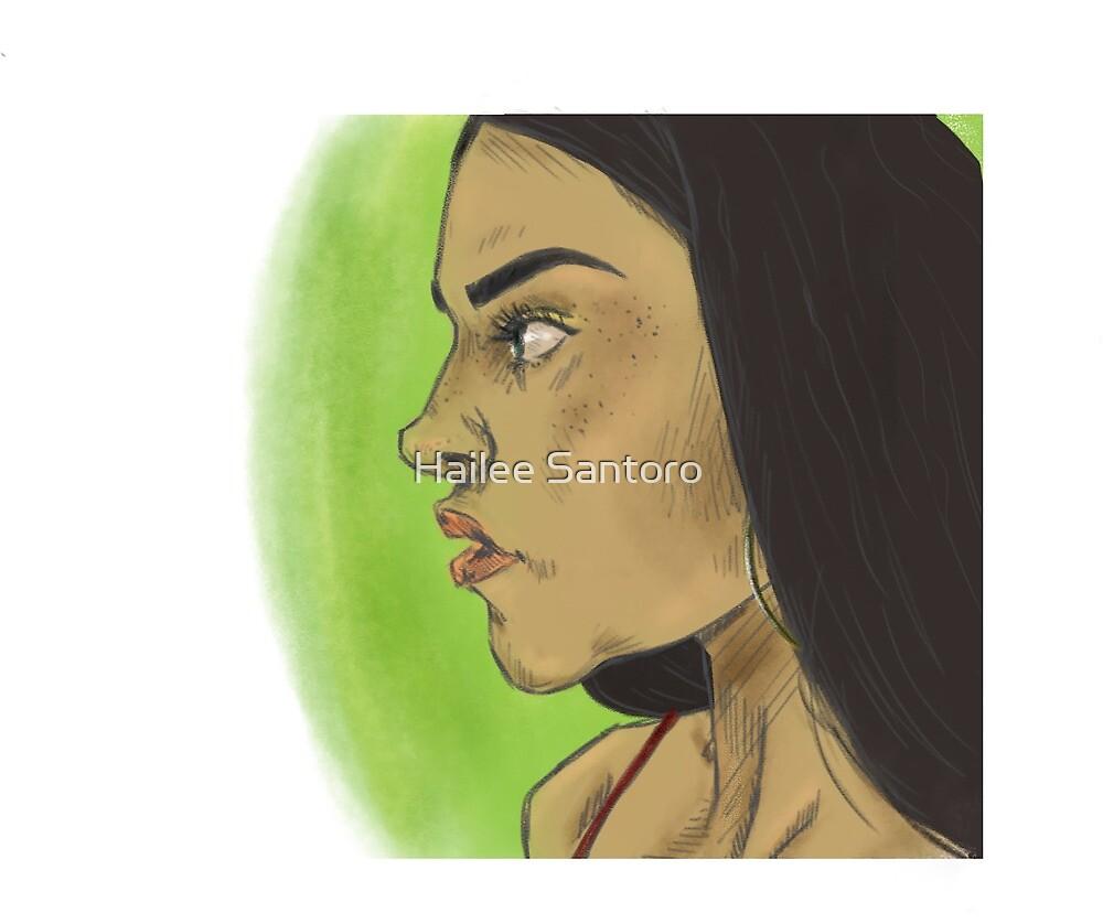 Girl Sketch by Hailee Santoro