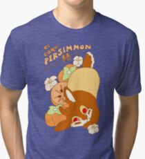 Jackalope and Persimmon Tri-blend T-Shirt