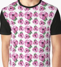 Spring abstract flower watercolor illustration Graphic T-Shirt