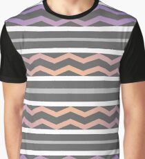 Sunset Chevron Pattern Graphic T-Shirt