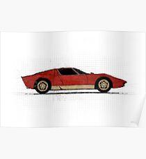 Lamborghini Blueprint Posters Redbubble