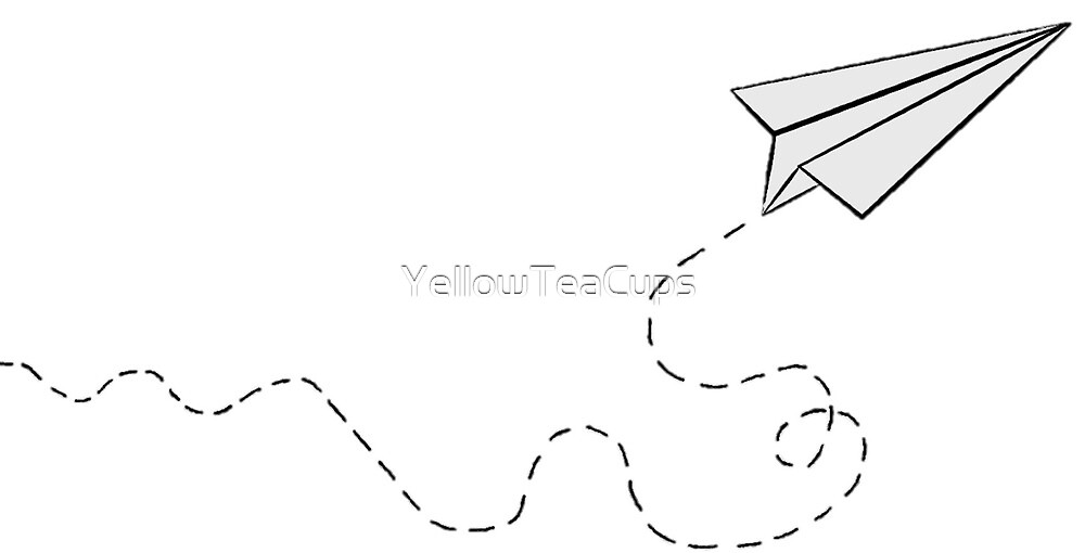 Paper Plane Design by YellowTeaCups