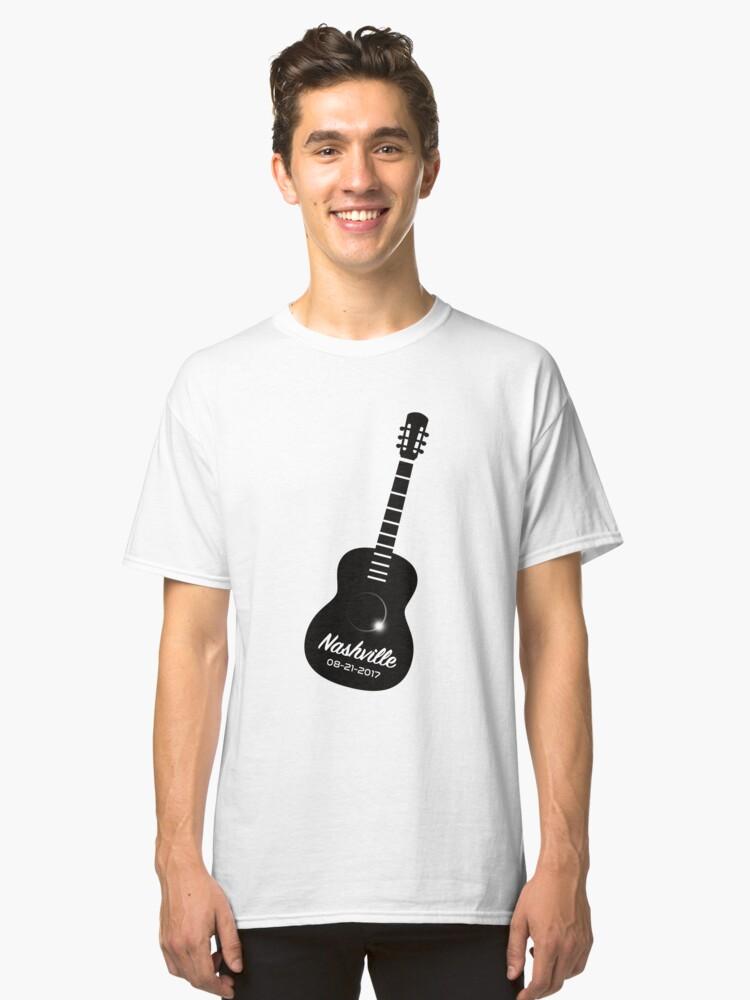 Nashville Guitar Total Solar Eclipse August 21 2017 T-Shirt Classic T-Shirt Front