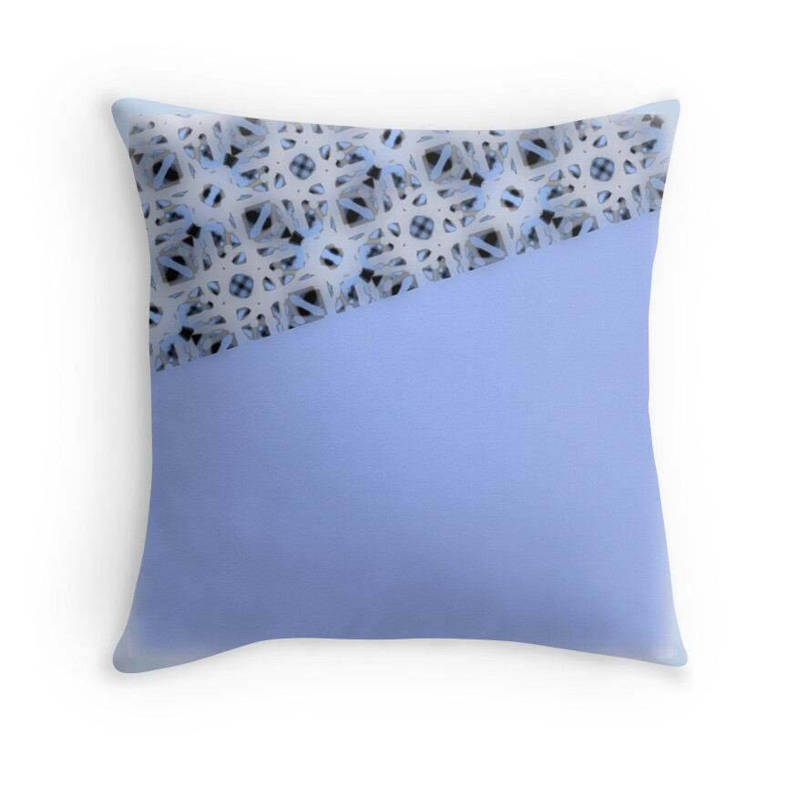 Periwinkle Blue Throw Pillow :