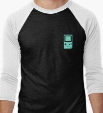 Minimal Gameboy pocket green (black) Men's Baseball ¾ T-Shirt