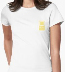 Minimal Gameboy pocket yellow (black) Womens Fitted T-Shirt