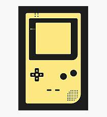 Minimal Gameboy pocket yellow (black) Photographic Print