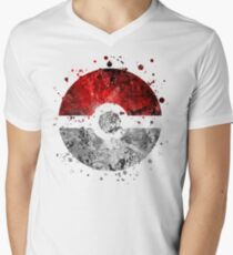 Pokemon Splatter (Lite) Men's V-Neck T-Shirt