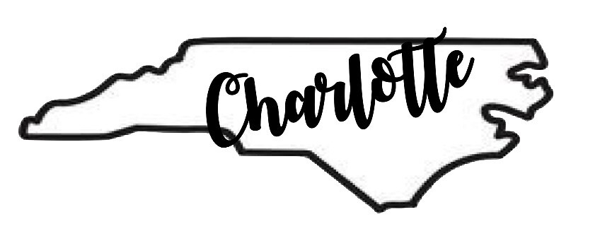Charlotte with State Outline by Sarah Taylor