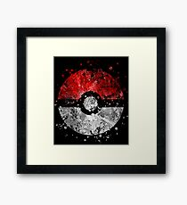 Pokemon Splatter Framed Print
