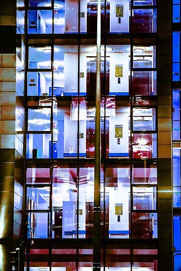 City Blocks Blue by Patrick M Higgins