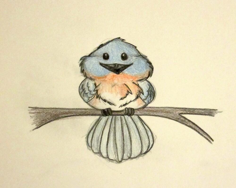 Cute little bluebird by Elvan-Lady