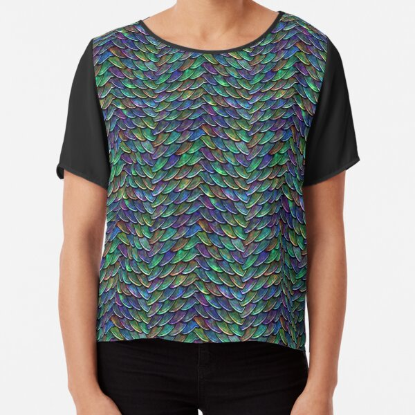 Mother of Dragons Rainbow Scales Chiffon Top