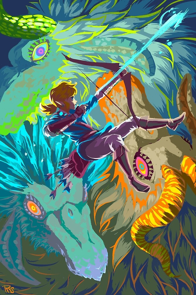 Breath of the Wild and Dragons by RAJillustration