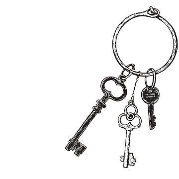 Ring of Vintage Skeleton Keys - Black by darkwonderbrand