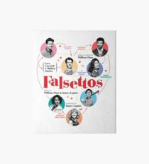 Falsettos 2016 Poster Art Board Print