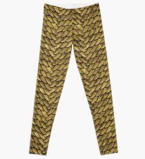 Golden Disco Dragon Scales Leggings