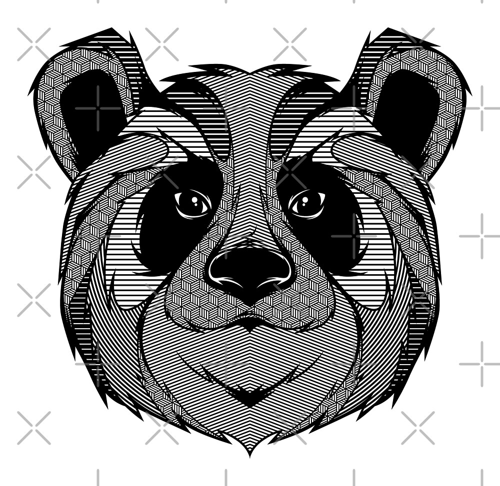 Panda Zentangle by Afif Quilimo