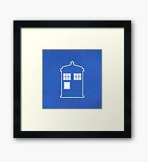 Doctor Who Tardis - Minimalist Framed Print