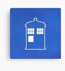 Doctor Who Tardis - Minimalist Canvas Print