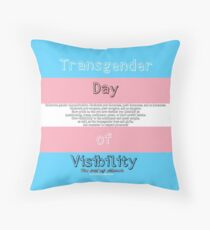 Transgender Day of Visibility Throw Pillow