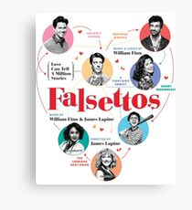 Falsettos 2016 Poster Canvas Print