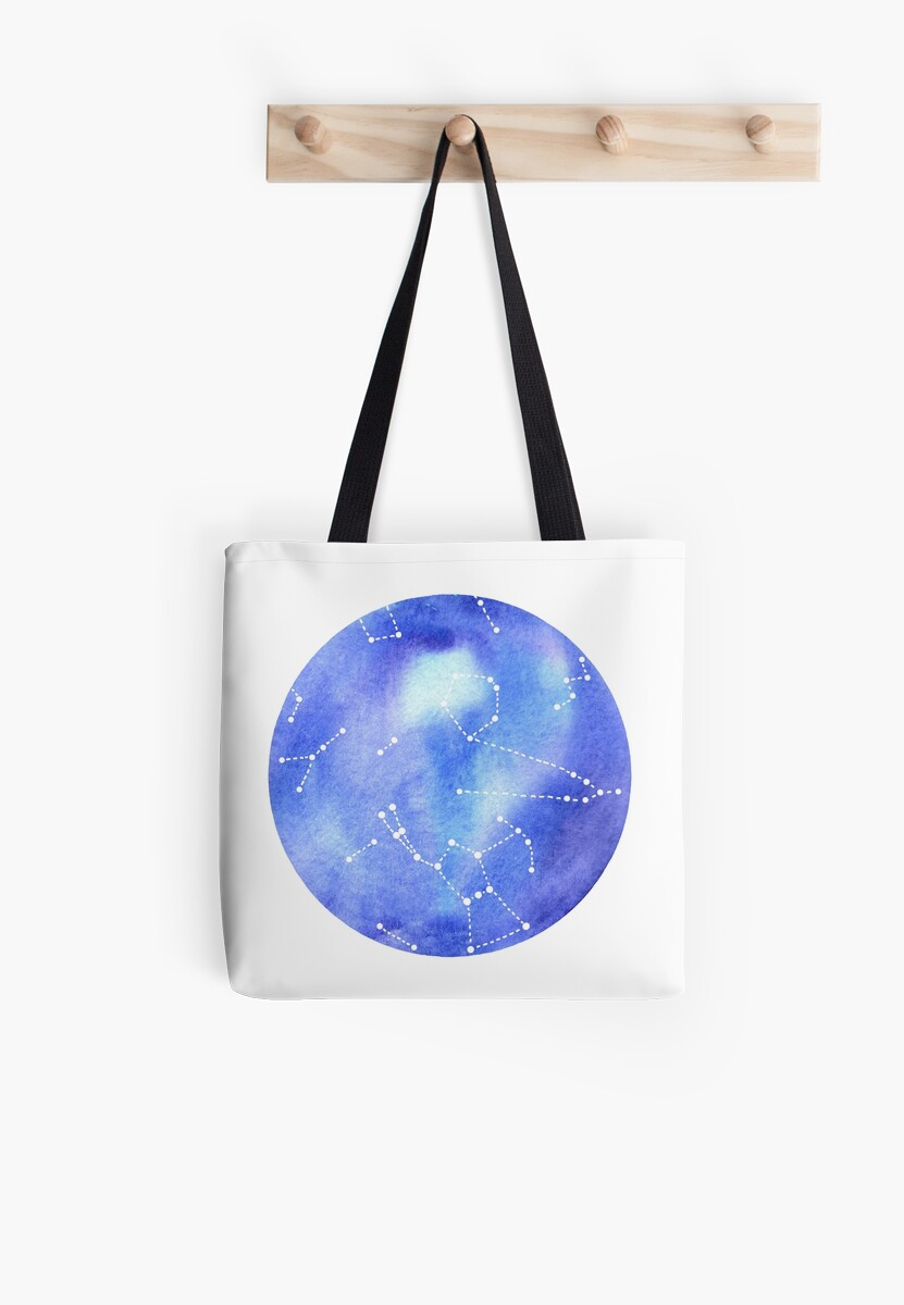 Night Sky Constellations Watercolor Graphic v.1 by OrionRose