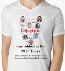 FALSETTOS WAS ROBBED Men's V-Neck T-Shirt