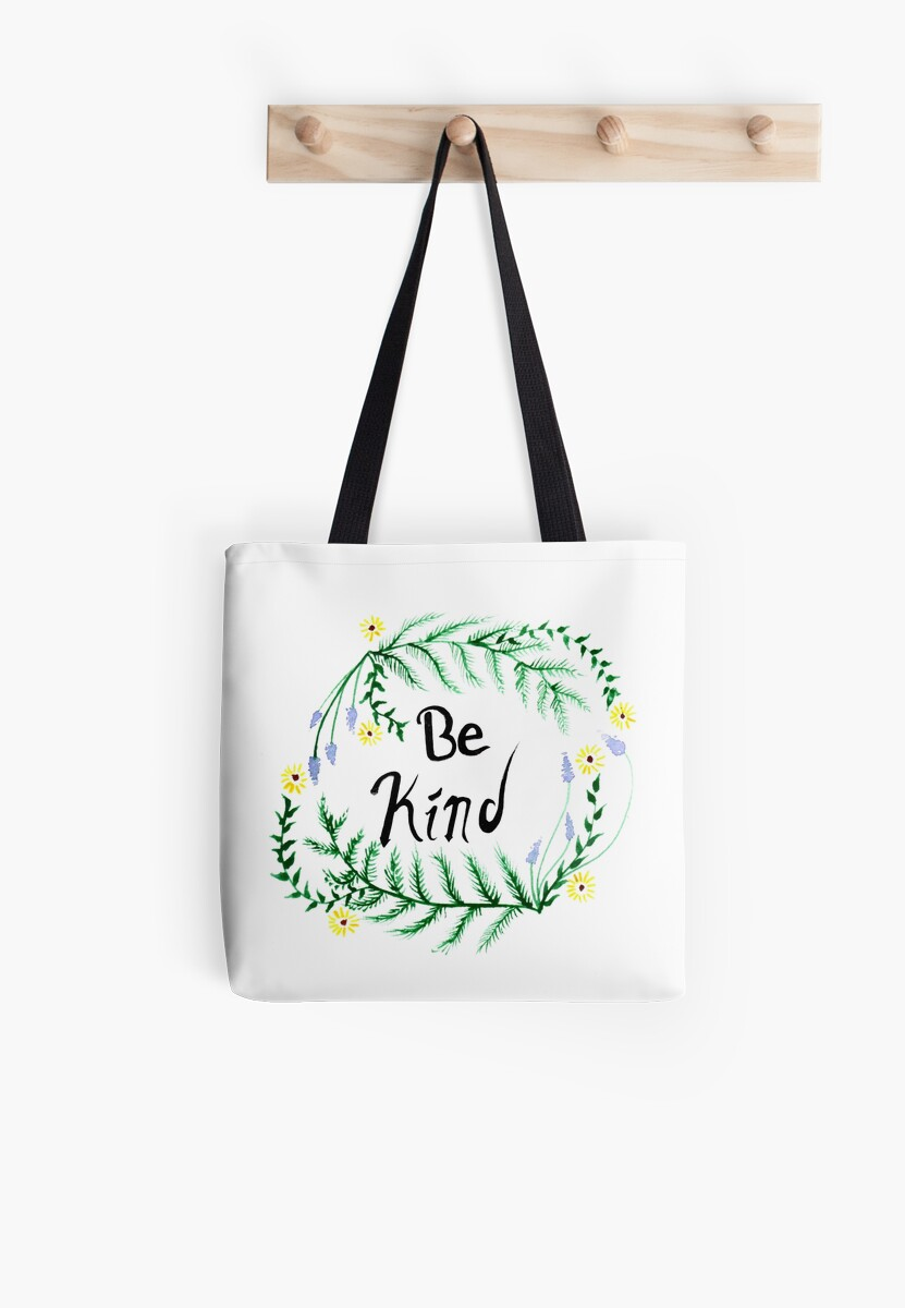 Be Kind Watercolor Nature Graphic by OrionRose
