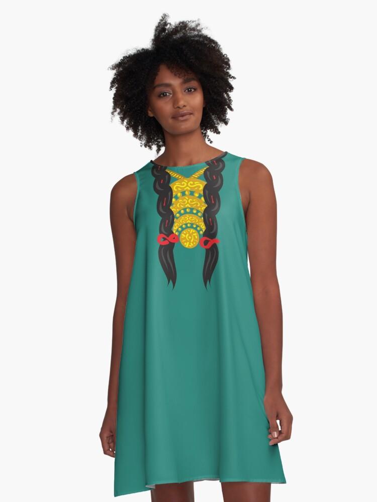 Braids A-Line Dress Front