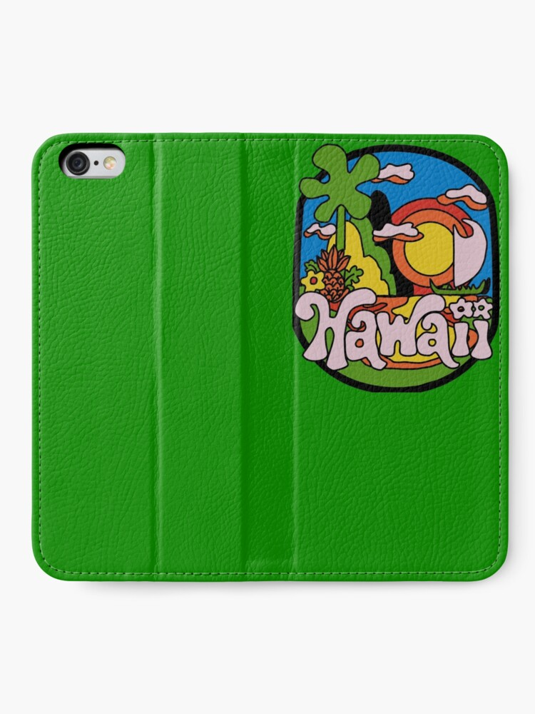 Alternative Ansicht von Vintage Hawaii iPhone Flip-Case