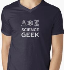 Cool Science Geek T-Shirt Men's V-Neck T-Shirt