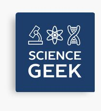 Cool Science Geek T-Shirt Canvas Print