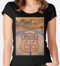 Trippin On 66 Women's Fitted Scoop T-Shirt