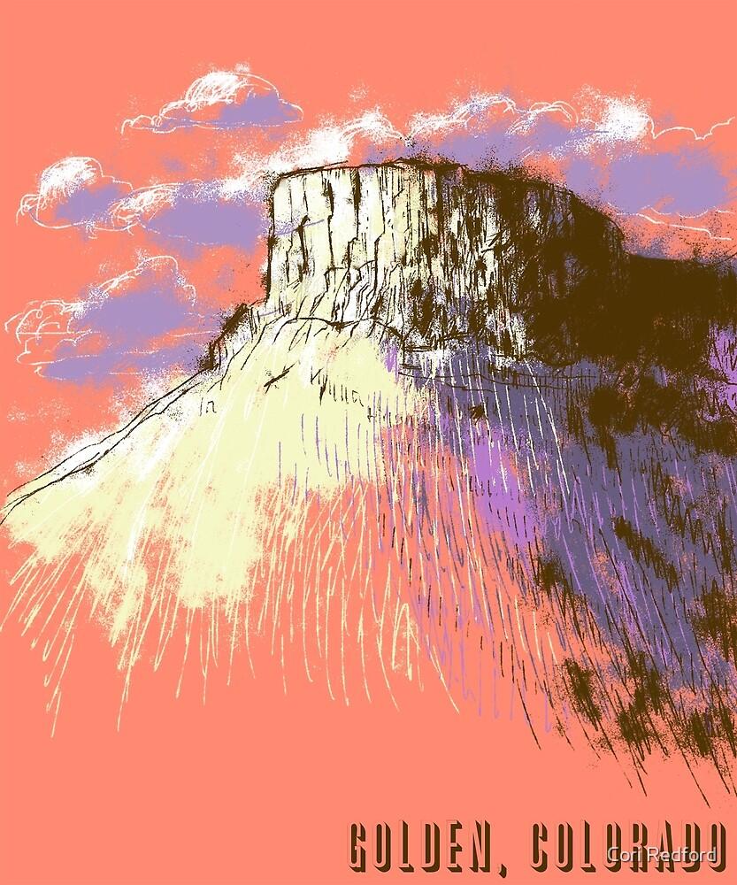 Castle Rock in Golden, Colorado by Cori Redford