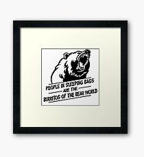 Bear and Burritos Framed Print