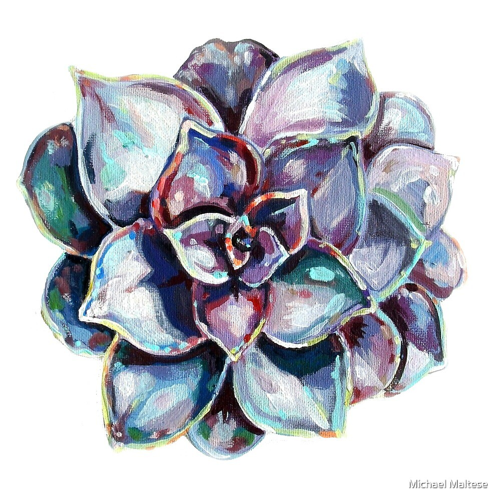 Succulent Painting by Michael Maltese