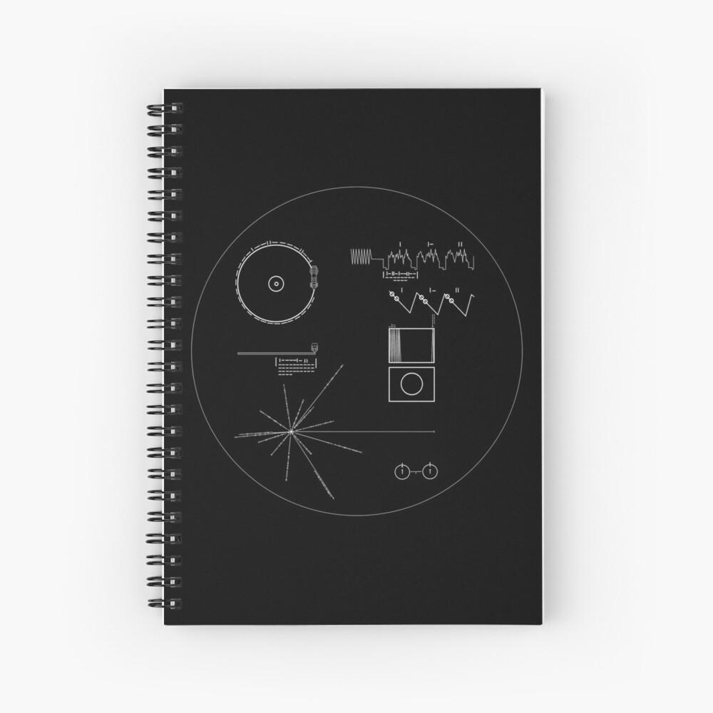 Die Goldene Schallplatte der Voyager Spiralblock