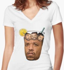 Ice Tea and Ice Cube Shirt Women's Fitted V-Neck T-Shirt