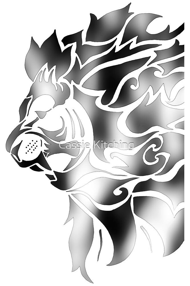 The Lions Roar - Black Silver by Cassie Robinson