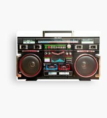 Huge Boombox Ghetto Blaster Metal Print
