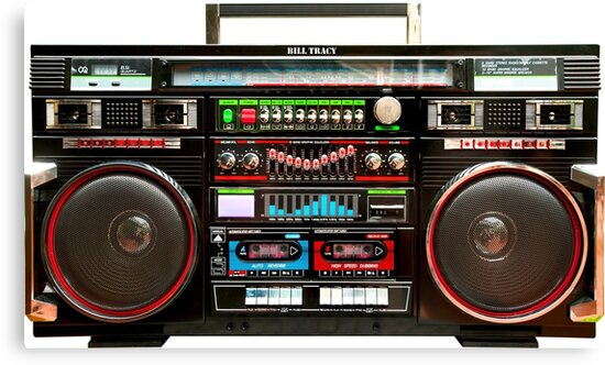 huge boombox ghetto blaster canvas prints by btphoto redbubble. Black Bedroom Furniture Sets. Home Design Ideas