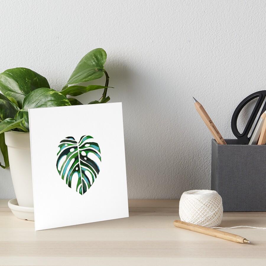 Swiss Cheese Monstera Tropical Foliage Plant Art Board Print
