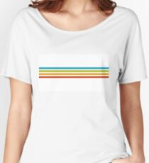 Vintage Rainbow Stripes Women's Relaxed Fit T-Shirt