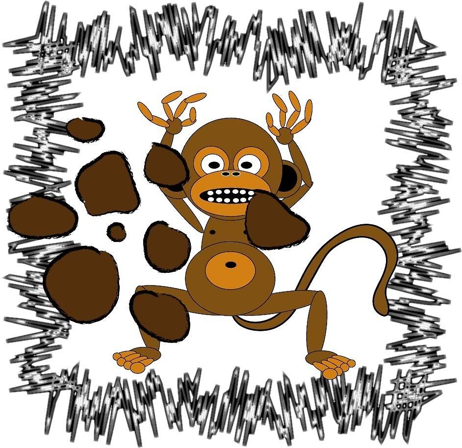 monkey poop by djzombie