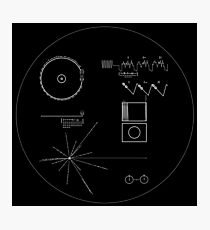 The Voyager Golden Record (White) Photographic Print