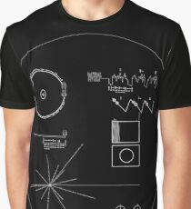 The Voyager Golden Record (White) Graphic T-Shirt