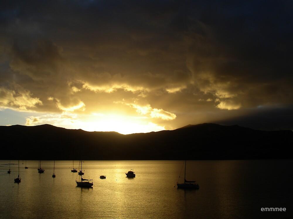 Akaroa Sunset by emmmee